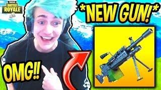 NINJA REACTS TO *NEW* LIGHT MACHINE GUN! (LEGENDARY) Fortnite SAVAGE & FUNNY Moments