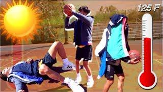 Basketball One Miss = One Hoodie IN 125°F EXTREME HEAT????