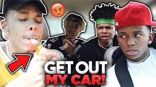 SMOKING CIGARETTES PRANK ON YRNDJ , BJ GROOVY , RG OFFICIAL | (THEY KICKED ME OUT)????
