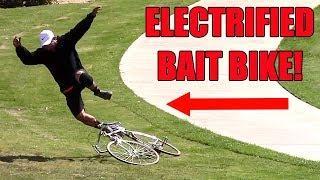 Electrified Bait Bike Prank 2018 - GUN PULLED!!