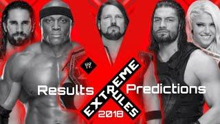 Extreme Rules 2018 Results Predictions