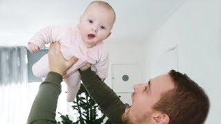 Funny Daddy Makes Baby Fly - Cute Baby Video