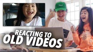 Reacting To Our Old Funny Videos!! | Ranz and Niana