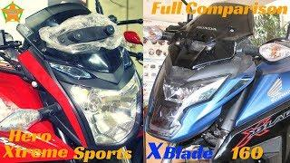 Hero Xtreme Sports 150 VS Honda XBlade 160 Full Details Comparison - Good or Bad ?