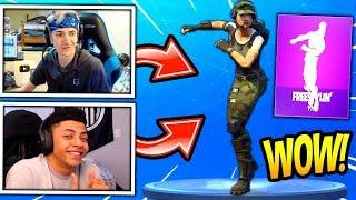 NINJA & MYTH REACT TO *NEW* FREESTYLIN' DANCE/EMOTE! Fortnite FUNNY & SAVAGE Moments