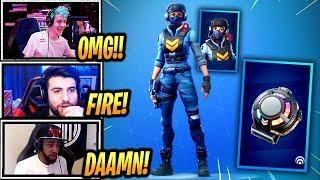 STREAMERS REACT TO *NEW* WAYPOINT SKIN + SIGNAL HUB! - Fortnite Epic & Funny Moments