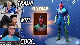 STREAMERS REACT TO NEW FLYTRAP SKIN *BEST PLAYS* | Fortnite Funny and Best Moments (Battle Royale)