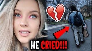 BREAK UP PRANK ON BOYFRIEND!! *HE CRIED*