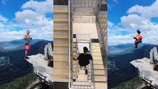 Tik Tok Best Extreme Sports Cliff Backflips, Freerunning and Parkour Videos Compilation 2019
