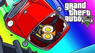 GTA5 Vespucci Job Funny Moments - Moo's Tuned Pucci?!