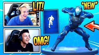 NINJA & MYTH REACT TO *NEW* RAMBUNCTIOUS EMOTE/DANCE! *RARE* FORTNITE SAVAGE & FUNNY Moments