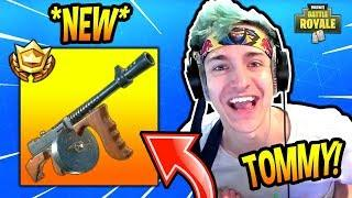 NINJA REACTS TO *NEW* DRUM GUN! *LEGENDARY* Fortnite SAVAGE & FUNNY Moments
