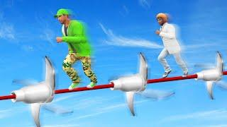 INTENSE TIGHTROPE BLADE DODGE COURSE! (GTA 5 Funny Moments)