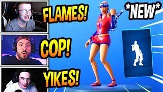 """STREAMERS REACT TO *NEW* """"HITCHHIKER"""" EMOTE/DANCE! *RARE* Fortnite FUNNY & SAVAGE Moments"""