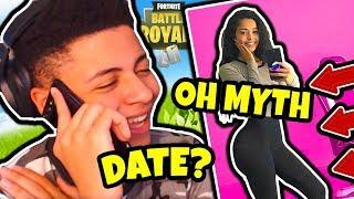 MYTH CALLS NEW GIRLFRIEND ON STREAM!? POKIMANE JEALOUS? - Fortnite FUNNY & SAVAGE Moments