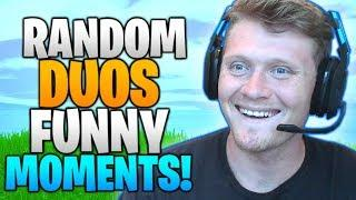 FUNNY MOMENTS WITH RANDOM DUOS! FORTNITE: BATTLE ROYALE!