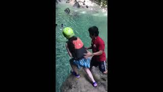 Sara Shantelle in Cebu Philippines CANYONeering Cliff Jumping Extreme Sports Dangerous!!