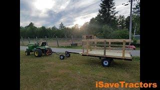 Garden Tractor Hay Wagon Cart Trailer Build
