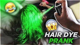HAIR DYE PRANK ON WIFE!!! (SHE CRIES)