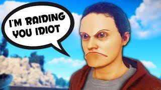 SALTY PSYCHO GETS RAIDED - Rust Funny Moments