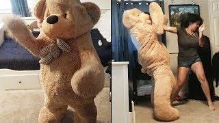 Giant Teddy Bear Revenge Prank On Wife Backfires
