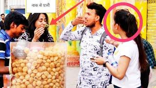 EATING GIRL'S PANI PURI PRANK - EPIC REACTIONS - PRANK IN INDIA //Ranjeet Shooter