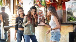 Annu Singh: Pani Puri Stealing prank | Eating Cute girl Pani Puri Prank | {BRbhai}