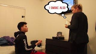 WEED PRANK ON MOM!! (GONE WRONG)