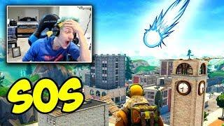 NINJA REACTS TO TILTED TOWERS BEING DESTROYED BY METEORS! UPDATE Fortnite - Funny and OP Moments