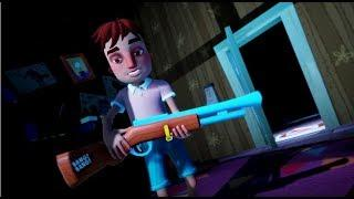 EL NIÑO DISPARAND0 ? NUEVO TRAILER ÉPICO DE HELLO NEIGHBOR HIDE AND SEEK ( REACCION )