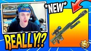 NINJA REACTS TO *NEW* HEAVY SNIPER RIFLE! *LEGENDARY* Fortnite FUNNY & SAVAGE Moments