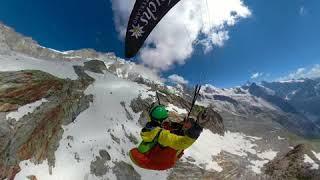 Paragliding Wallis Glacier GoPro FUSION 360