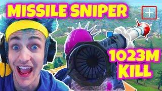 NINJA GETS THE LONGEST KILL EVER WITH GUIDED MISSILE! Fortnite Funny Moments & Twitch Highlights!