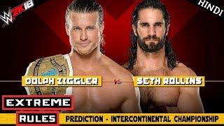 WWE 2K18 (Hindi) EXTREME RULES 2018 - Dolph Ziggler vs Seth Rollins - IronMan Match (PS4 Pro)