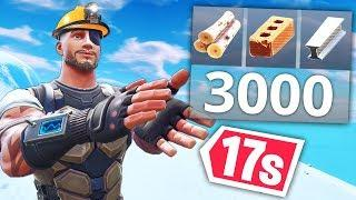 BUILD 3000 MATERIALS IN 17s..!! | Fortnite Funny and Best Moments Ep.399 (Fortnite Battle Royale)