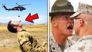 Top 10 Funniest ARMY FAILS! (Funny Military Mistakes, Boot Camp)