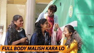 Full Body Malish Kara Lo Madam Prank   Full Body Massage Prank In Public   Prank In India 2019