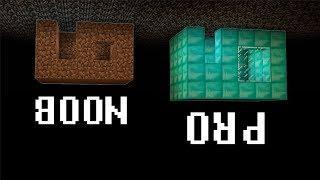 Minecraft Noob vs. Pro : LIFE UNDER BEDROCK challenge - funny Minecraft battle