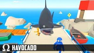 NEW PARTY GAME BUT WITH SHARKS! | Havocado Funny Moments with Delirious, Toonz, Squirrel