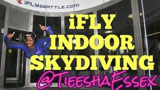 IFly Seattle Skydiving Vlog | Virtual Reality Skydiving | Tieesha Essex | #Ifly #extremesports #vlog
