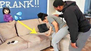 "MY WATER BROKE PRANK ON MY BOYFRIEND!! - ""AND I Don't Want To Go To The Hospital"" LOL"