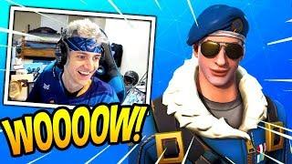 NINJA REACTS TO *NEW* ROYALE BOMBER SKIN! *EPIC* Fortnite SAVAGE & FUNNY Moments