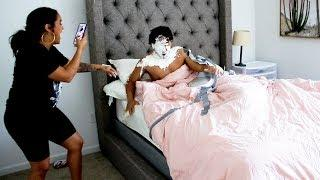 DUCT TAPE PRANK ON SLEEPING BOYFRIEND!!