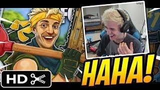 Ninja Reacts to BasicallyIDoWrk Fortnite Trailer! - Fortnite Best and Funny Moments
