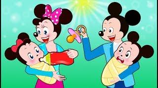 ᴴᴰ Mickey Mouse & Minnie Mouse Learn Colors Funny Story! Old Macdonald Had a Farm Cartoon for Kids