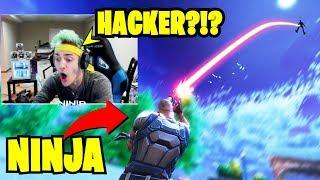 NINJA FIGHTS A HACKER AT TILTED TOWERS - Fortnite Funny & WTF Moments #36
