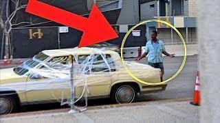 EXTREME SARAN WRAP CAR PRANK - BAD PARKING REVENGE!!!