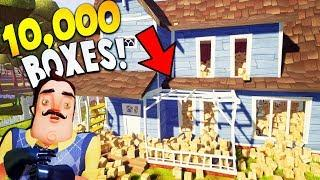 TRAPPING THE NEIGHBOR IN HIS HOUSE WITH 10,000 BOXES! | Hello Neighbor Prank The Neighbor