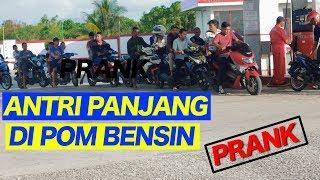PURA -PURA ANTRI PANJANG DI POM BENSIN SPBU - PRANK INDONESIA