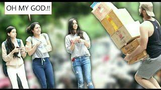 THROWING BOXES ON CUTE GIRLS PART 2 | PRANKS IN INDIA 2018 | Hsj